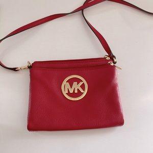 Preloved leather Michael Kors Crossbody Bag